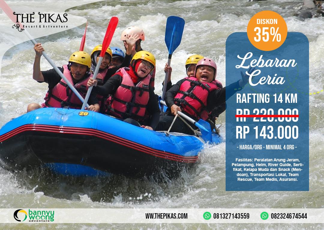 Diskon 35 Arung Jeram Sungai Serayu Banjarnegara The Pikas Artventure Resort