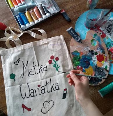 Malowanie torby handmade Matka wariatka - Adzik tworzy