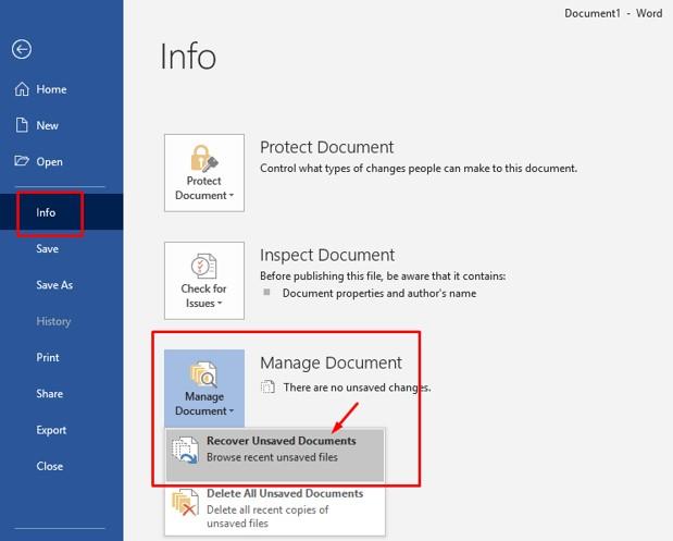 Cara Mengembalikan File Word 2010 dan 2016 Yang Lupa di Save