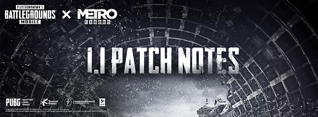 PUBG Mobile Update 1.1 Patch Notes: Metro theme, Royal Pass S16 and more