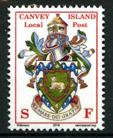 Canvey Local Post Coat of Arms Foot Mail Stamp