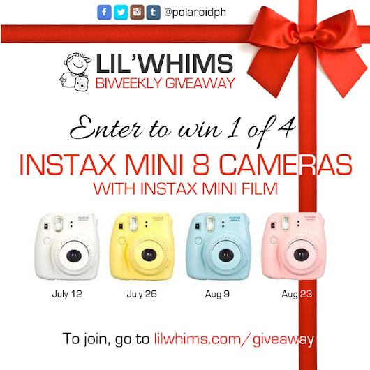 Giveaway: Win 1 of 4 Instax Mini 8 Cameras