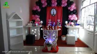 Decoração mesa de aniversário Paris - Festa infantil e teen