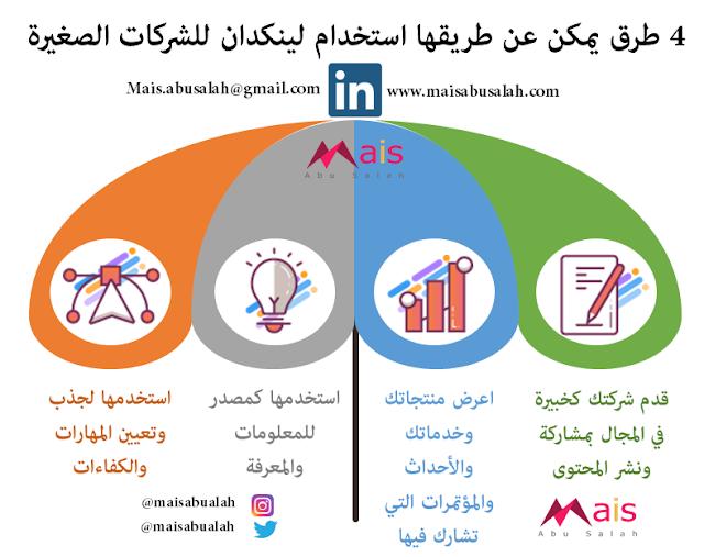 4 طرق يمكن عن طريقها استخدام لينكدان للشركات الصغيرة #انفوجرافيك