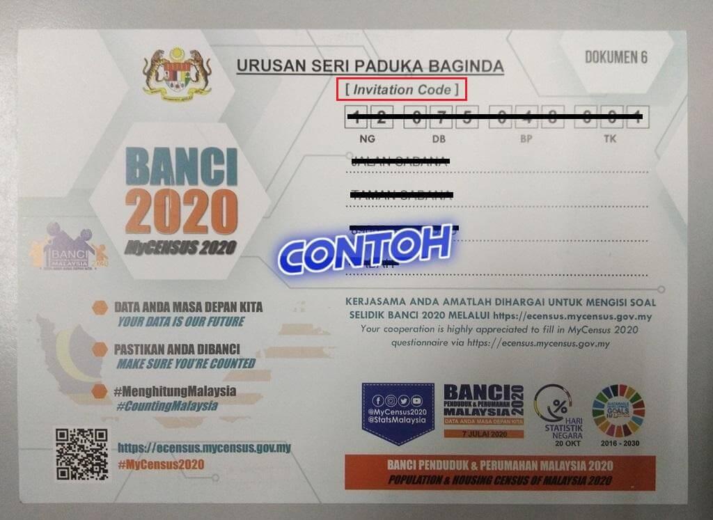e-Census Invitation Code