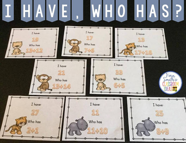 Perfect for Introducing or Reviewing Addition. This I Have, Who Has? Addition Facts Bundle can be used for your whole class, reading groups, tutoring, small RTI groups, reading rotation, etc. This Bundle of Addition I Have, Who Has? Cards includes Teacher Directions, Seven Teacher Answer Key and 130 Addition Cards!