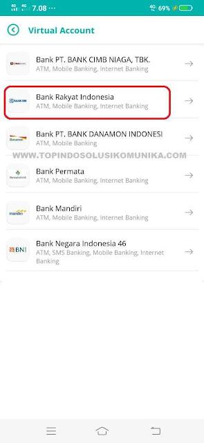 pilih bank yang ingin digunakan