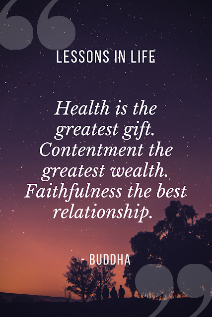 Contentment quote by Buddha