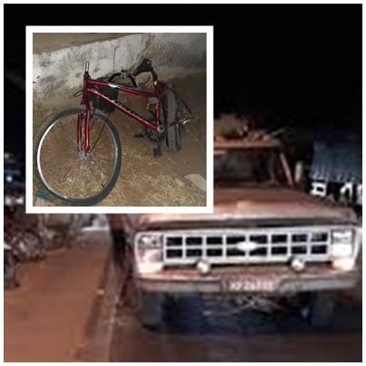 Ciclista morre atropelada por caminhão em Patos