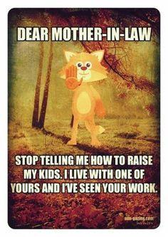 Dear mother-in-law..