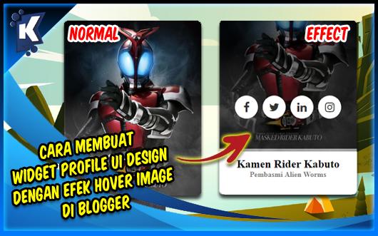 Cara Membuat Widget Profile UI Design dengan Efek Hover Image di Blogger