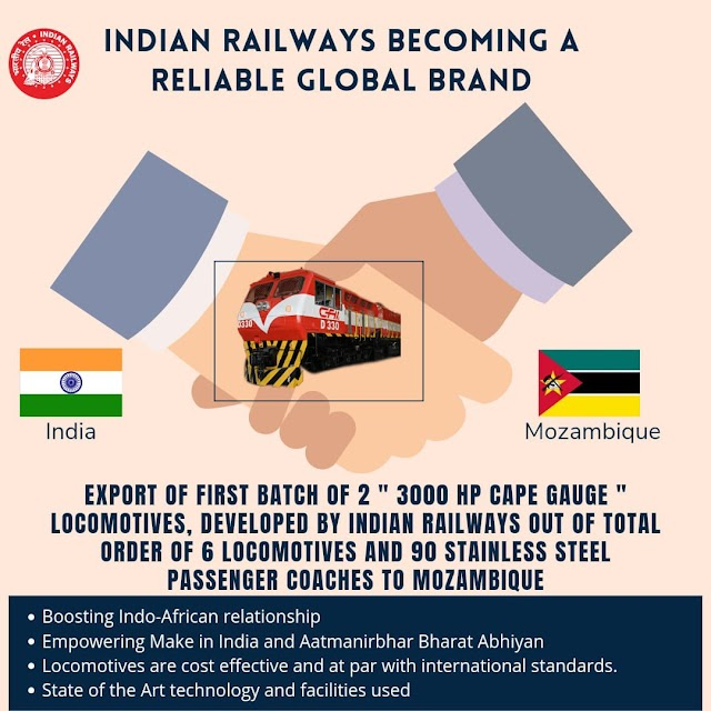 Made in India trains to Mozambique