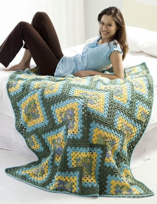 Free Crochet Patterns: Granny Square Afghan Variations