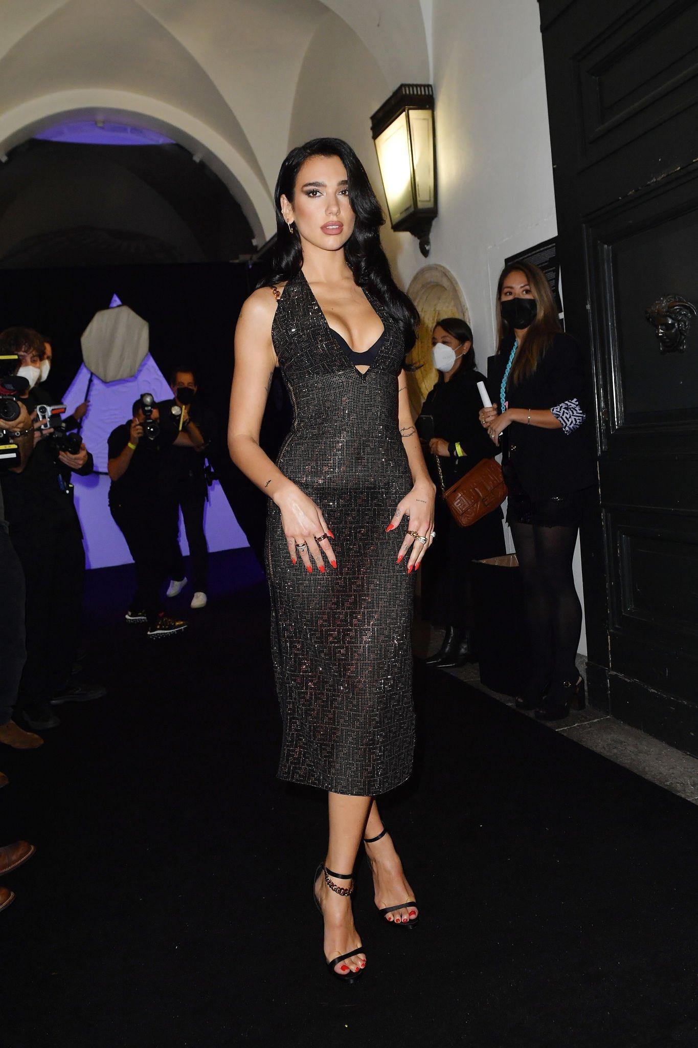 Dua Lipa at Versace x Fendi