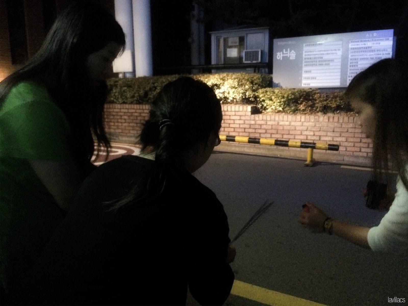 Seoul, Korea - Summer Study Abroad 2014 - Setting fireworks near dorms