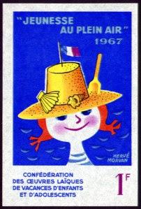 Timbre de campagne Jeunesse en Plein Air, 1967 (collection musée)