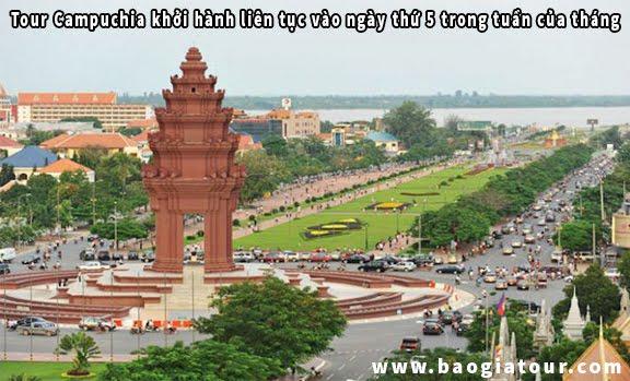 Tour Campuchia khởi hành liên tục vào ngày thứ 5 trong tuần của tháng 11