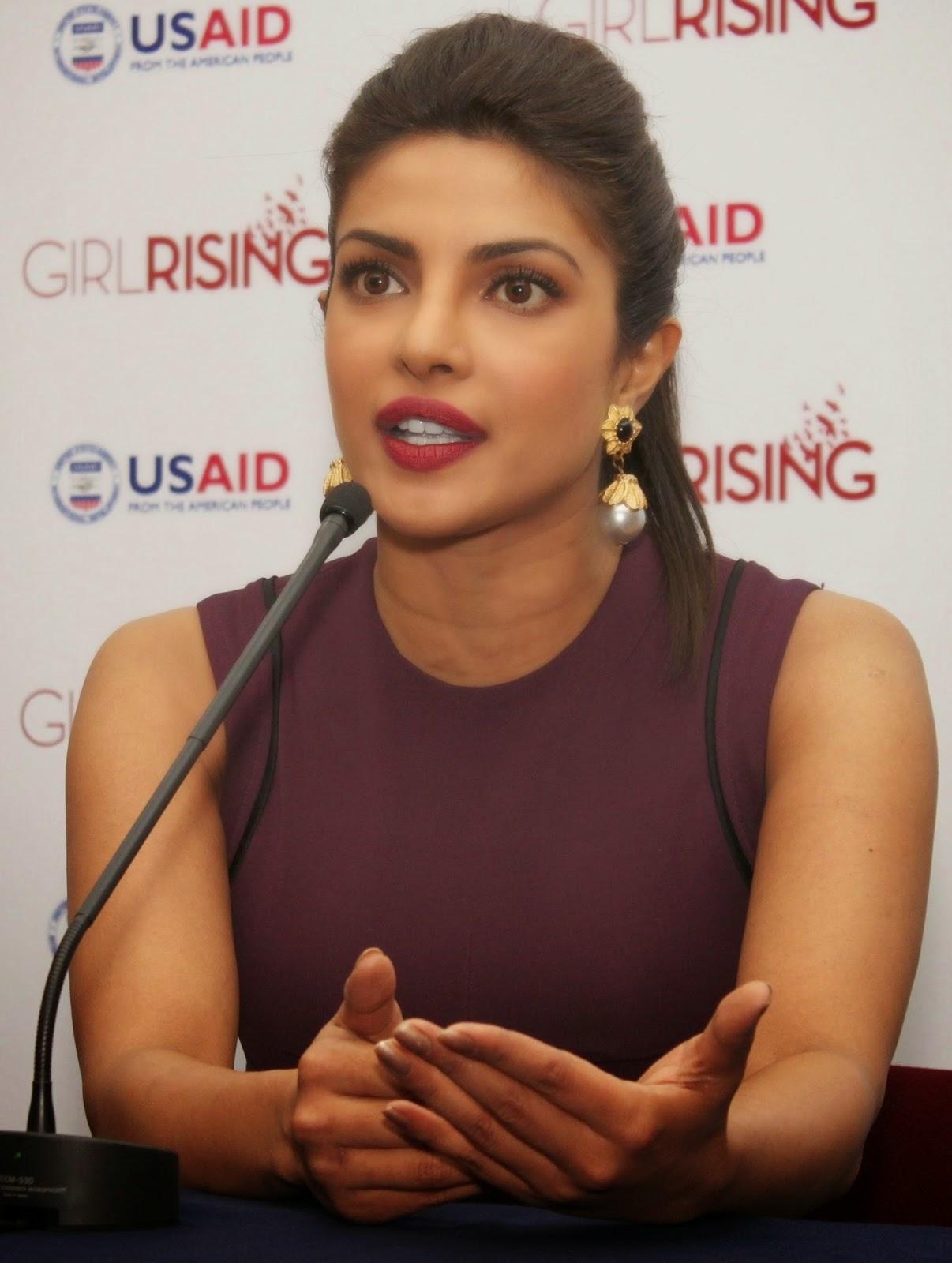 Priyanka Chopra, Freida Pinto At Girl Rising Event -6230