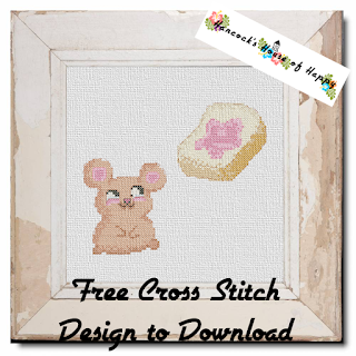 free kawaii mouse cross stitch pattern