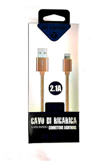 CAVO IPHONE 2.1A RICARICA IPHONE ON TENCK 30153