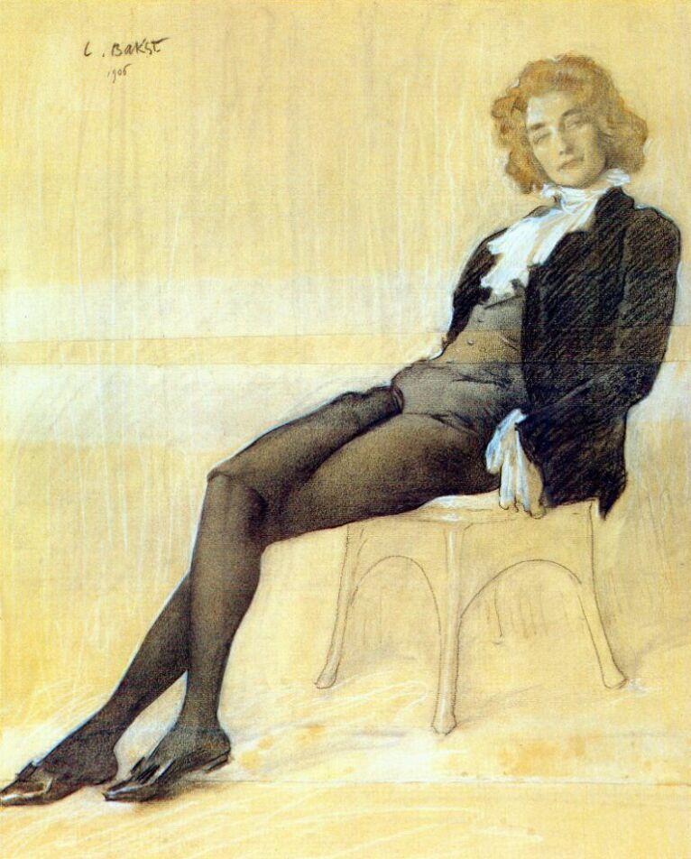 портрет Гиппиус работы Бакста
