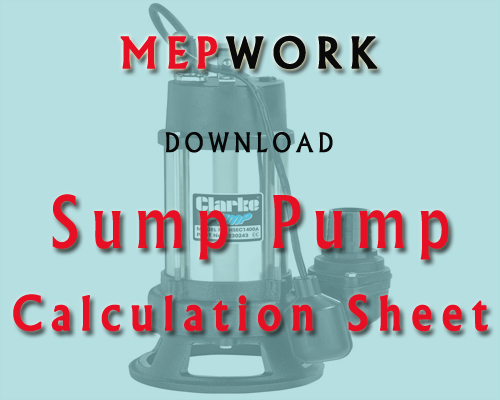 Download sump pump calculation excel sheet for the selection of submersible pump - Excel xls