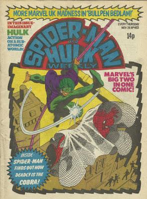 Spider-Man and Hulk Weekly #403, the Cobra