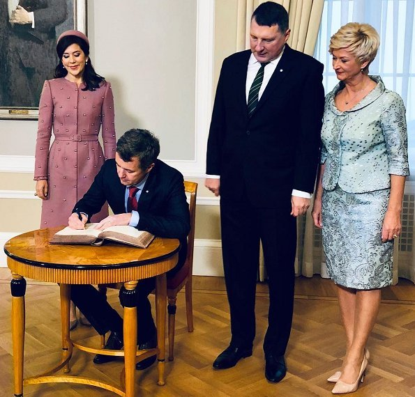 Crown Prince Frederik and Crown Princess Mary visited Latvia. President Raimonds Vējonis and First Lady Iveta Vējone