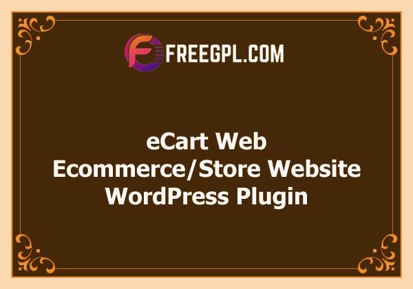 eCart Web - Ecommerce/Store Full Website Free Download