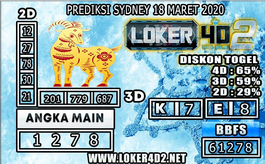 PREDIKSI TOGEL SYDNEY  LOKER4D2 18 MARET 2020