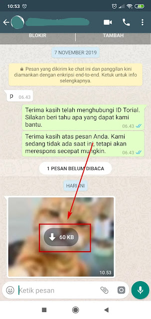 mendownload foto whatsapp