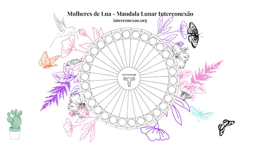 Mulheres de Lua: Mandala Lunar Menstrual porque Ser mulher é ser cíclica e menstruar é sagrado