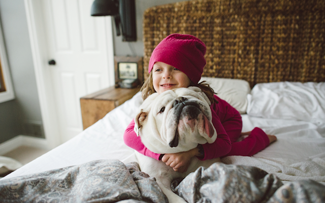 Girl and Animals Friendship Photography