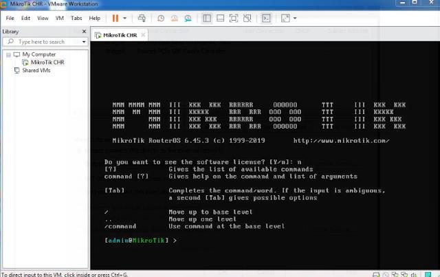 MikroTik Virtual Router di VMware