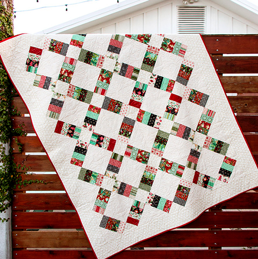 Jelly Roll Railway Quilt Free Pattern Designed by Fat Quarter Shop