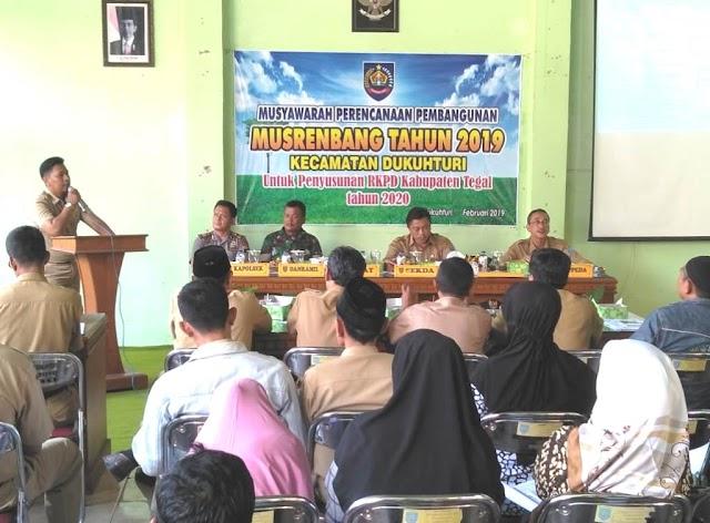 Serma Rustono menghadiri Musrenbang Kecamatan Dukuhturi