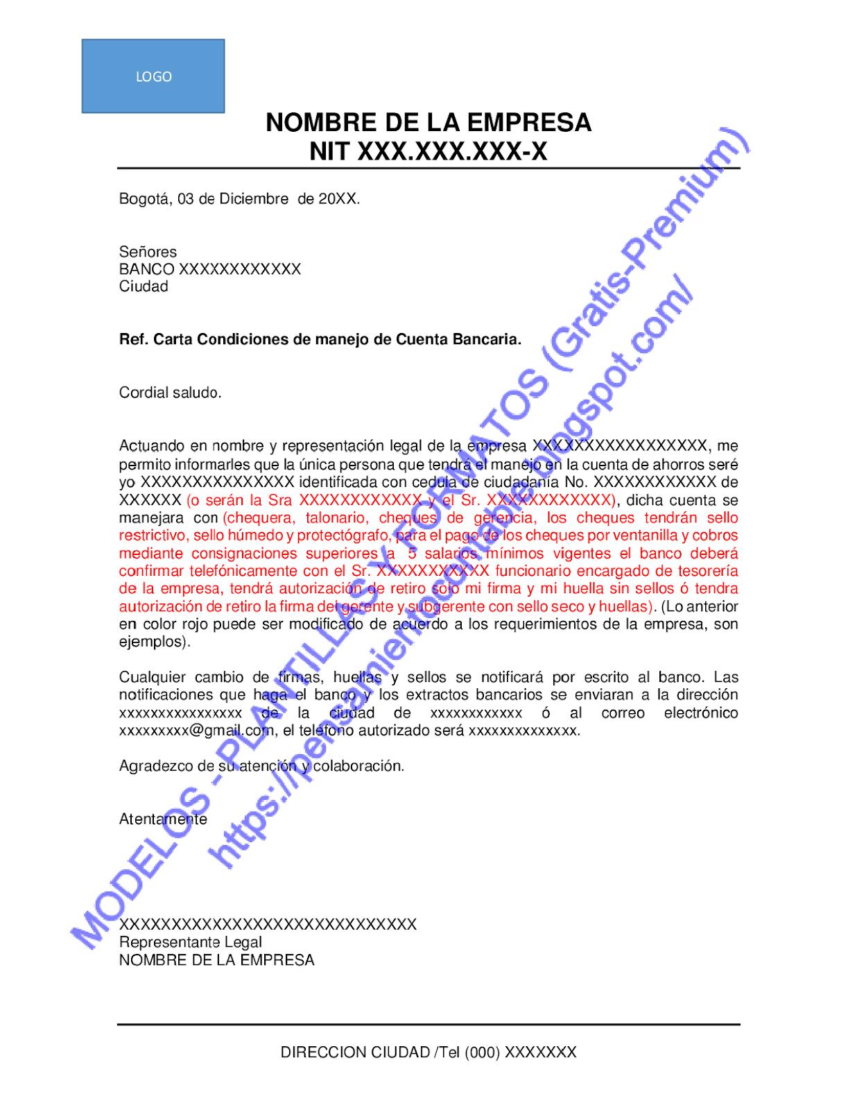 Modelos Plantillas Y Formatos Gratis Premium Modelo Carta