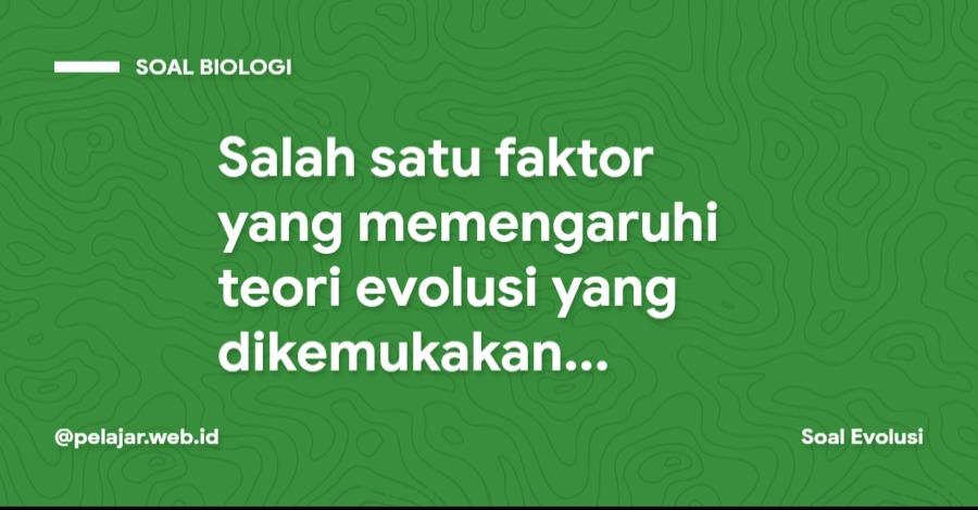 Salah satu faktor yang memengaruhi teori evolusi yang dikemukakan Darwin adalah adanya kecenderungan kenaikan jumlah penduduk lebih cepat daripad kenaikan produksi pangan. Hal tersebut dikarenakan kenaikan jumlah penduduk mengikuti deret ukur, sedangkan kenaikan produksi pangan terjadi menurut deret hitung. Pendapat tersebut dikemukakan oleh