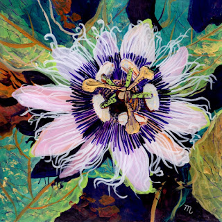 Lilikoi Passion Flower Original Painting