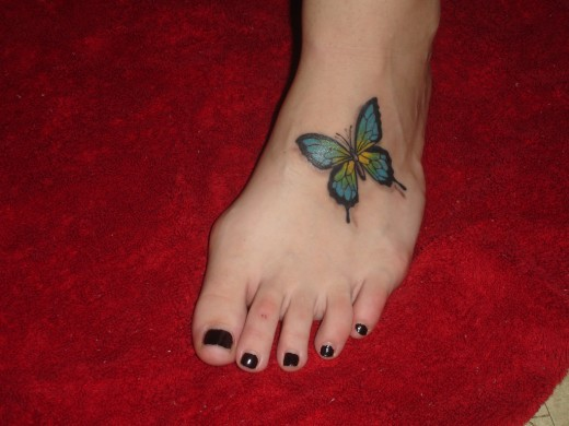 By Fashion Butterfly Foot Tattoos Designs For 2011