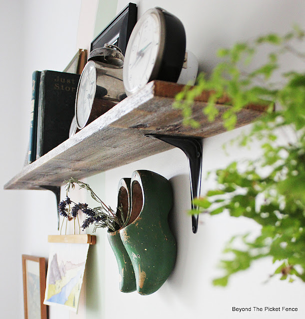 Wood Shoes Hanging on the Wall