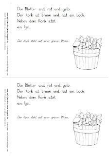 Herbst Lese-Mini einfach mit Silbenschrift