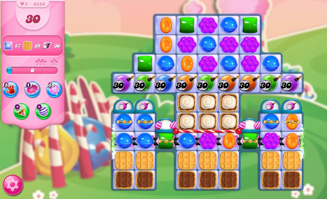 Candy Crush Saga level 6823