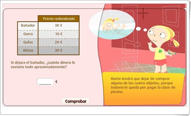 """""""Estimar el total de una compra"""" (Juego de Matemáticas de Primaria)"""