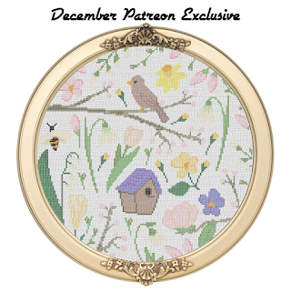Spring Season Sampler Cross Stitch Pattern