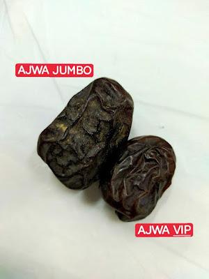 Perbezaan Kurma Ajwa Jumbo dan Ajwa VIP MyWay
