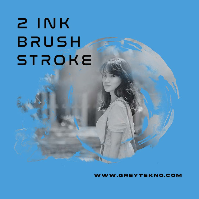 Download 2 Ink Brush Stroke Gratis (PNG)