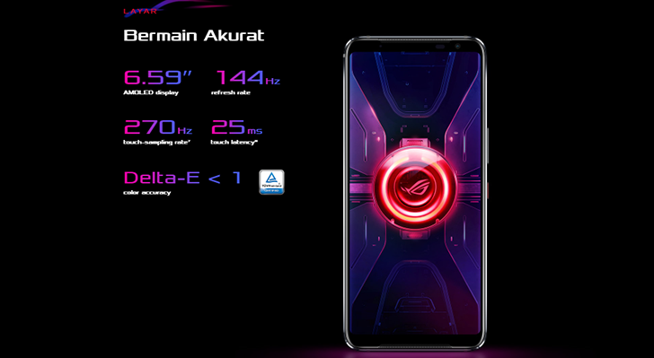 Stunning 144Hz Amoled Display rog phone 3