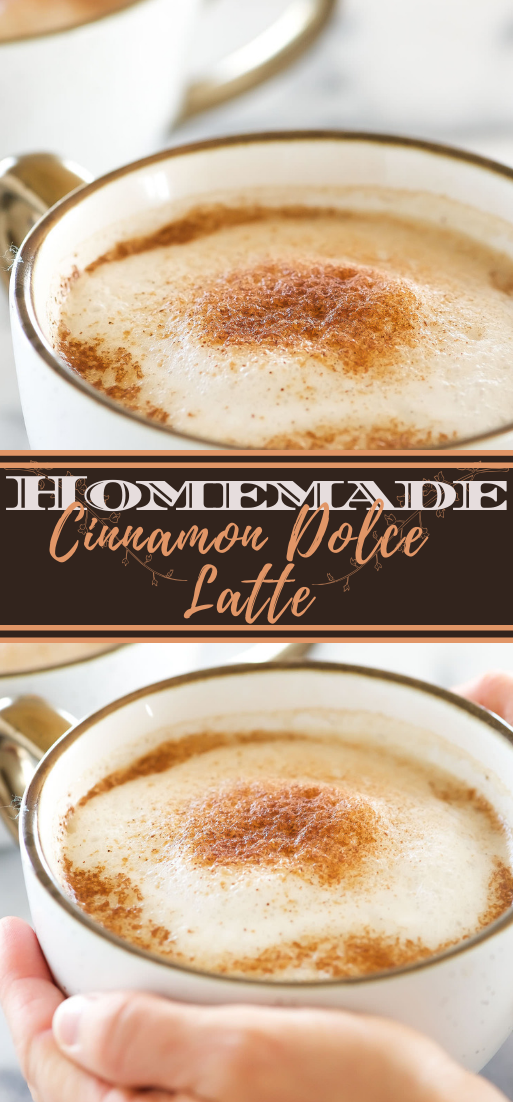 Homemade Cinnamon Dolce Latte  #healthydrink #easyrecipe #cocktail #smoothie