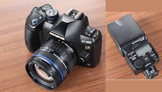 Jual Olympus E-520 Kamera DSLR Bekas + External Flash Olympus